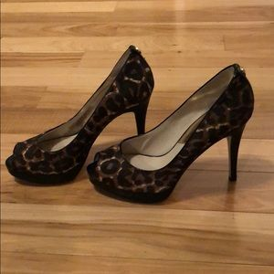 MICHAEL Michael Kors calf hair platform heels